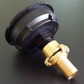 IBC S100X8 3'' Auslauf Adapter mit 25 mm Schlauchtülle