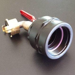 IBC Adapter FEINGEWINDE 2-Zoll / 58mm Auslauf Kugelhahn #F15GK-REGEN-USER