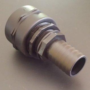 IBC Adapter FEINGEWINDE 2-Zoll mit 38 mm Tülle für 1-1/2 Zoll Schlauch #F38-S-REGEN-USER