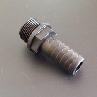 IBC- Schlauchtülle für 19/20mm 3/4'' / 3/4-Zoll Schlauch mit 3/4'' / 3/4-Zoll Aussengewinde #BU34AG19 IBC-REGEN-USER