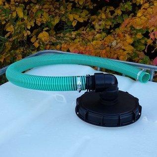 Flexibles Regenwasser Verbindungsset für 'REGENDIEB PRO' mit 50mm 2-Zoll Schlauch verschraubt #98GSV-REGEN-USER
