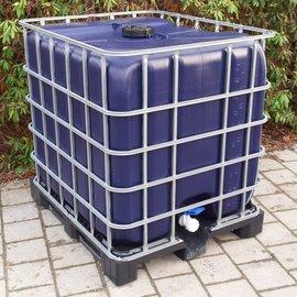 IBC REGEN-USER 1000l INDIGO auf Kunststoffpalette