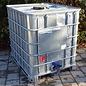 IBC Container Schütz RSX UN 1000 Liter mit verzinkter Stahlblech- Verkleidung auf Metallpalette #I3RSX-UN
