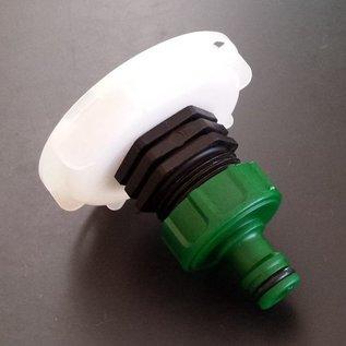 GARDENA kompatible Schnellkupplung mit 1-Zoll für kurzes CAMLOCK FEINGEWINDE SCHÜTZ 62mm #FS2006(FS25G)-REGEN-USER