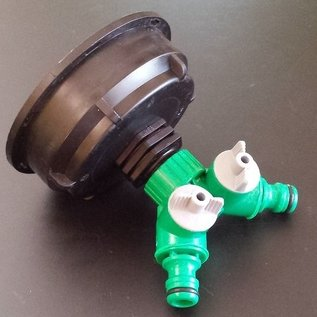 IBC 2-Wege-Ventil mit S100X8 3-Zoll Auslauf Adapter GARDENA-kompatibel #Z2008-REGEN-USER
