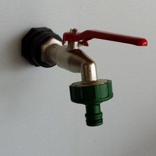 Zusätzlicher Auslauf mit GARDENAkompatiblen Kugelhahn für Regenwasser- Tank Fass Tonne und andere Gegenstände #D1200-15G-REGEN-USER