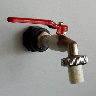 Separater Auslauf mit Kugelhahn für Regenwasser- Tank Fass Tonne und andere Gegenstände #D1200-15-REGEN-USER