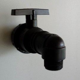 Flexible IBC Tankdurchführung 1'' mit Wasserhahn