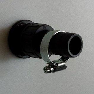 IBC Durchführung 1-Zoll mit Aussengewinde mit Schlauchtülle 1-Zoll 25mm und Schlauchschelle #D1301-25-S-REGEN-USER