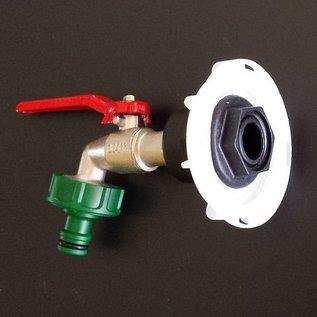 Auslaufadapter mit Kugelhahn und Gardena Anschluss für IBC SCHÜTZ mit kurzem FEINGEWINDE 62mm #FS15G-REGEN-USER