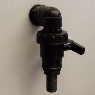 IBC Durchführung 1-Zoll mit zusätzlichem Wasserhahn mit Schlauchtülle 1-Zoll 25mm #D1300-HB25S-REGEN-USER