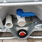 Schütz IBC IBC Container Schütz MX EX 1000 UN (für Gefahrgut) industriell gereinigt auf Stahl- Palette #I2MX-EX-UN
