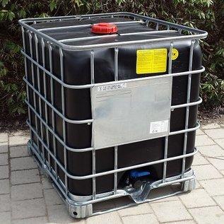 Schütz IBC IBC Container Schütz MX EX EV 1000 UN (für Gefahrgut) SCHWARZ (leitfähig, antistatisch) auf Stahl- Palette #I4MX-EX-UN