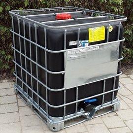 """Schütz IBC IBC Container Schütz MX EX EV 1000l SCHWARZ 3"""" mit UN auf Stahl"""