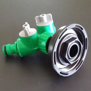 IBC 2-Wege-Ventil für kurzes CAMLOCK FEINGEWINDE MAUSER 60mm GARDENA-kompatibel #FC2008-REGEN-USER