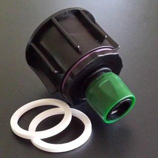 IBC Profi Adapter 6cm Grobgewinde mit kompatiblem GARDENA Stecker #P2009-REGEN-USER