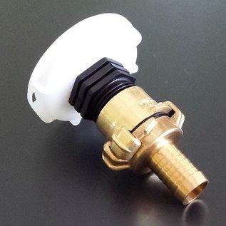 IBC 2'' Anschlussadapter mit 19mm / 3/4 Zoll Schlauchtülle für kurzes CAMLOCK FEINGEWINDE SCHÜTZ 62mm #FS19GK-REGEN-USER