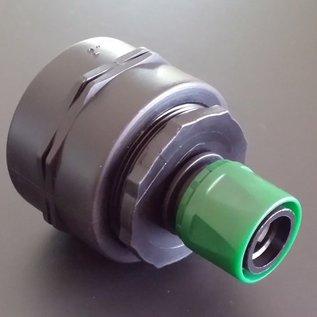 IBC 2-Zoll Anschluss Adapter 58mm Feingewinde mit kompatiblem GARDENA Stecker #F2009-REGEN-USER