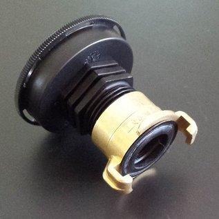 IBC Anschluss mit kurzem CAMLOCK FEINGEWINDE 2'' 60mm Auslauf Adapter mit GEKA #FC2GK-REGEN-USER