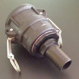 IBC 2-Zoll CAMLOCK Auslauf Adapter mit 30mm 1-1/6 Zoll Schlauchtülle #C30-S-REGEN-USER