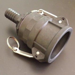 IBC 2-Zoll CAMLOCK Auslauf Adapter mit 25mm 1-Zoll Schlauchtülle #C25-S-REGEN-USER