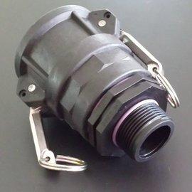 IBC 2'' CAMLOCK Adapter mit 1-1/4'' AG