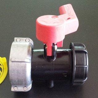 Schütz IBC IBC Container Schütz Ersatz- Ablasshahn schwarz S60x6 2-Zoll Grobgewinde für Regenwassertank #136NB-REGEN-USER
