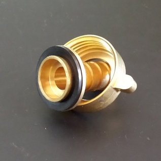 Schlauchanschluss für 13mm 1/2-Zoll Schlauch mit 1-Zoll Innengewinde aus Messing #MES1IG13-REGEN-USER