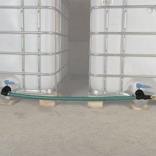 Verbindung 2 Regenwassertanks mit 2-Zoll-CAMLOCK Auslauf nebeneinander mit Schlauch #C50TVS-REGEN-USER