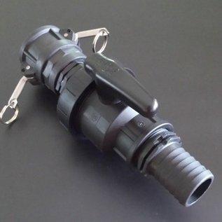 IBC Container Kugelhahn für CAMLOCK / Ablasshahn mit 2 Zoll 50 mm Schlauchanschluss #CH50-S-REGEN-USER