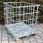 IBC Gitterbox weitmaschig für Brennholzlagerung auf Metallpalette #1M-REGEN-USER