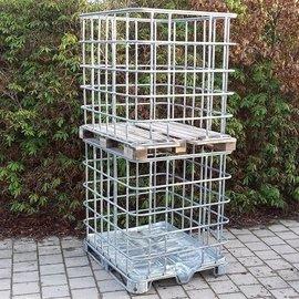 Basis XXL IBC Gitterbox weitmaschig auf Metallpalette