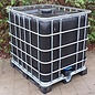 SCHWARZER TANK 1000-Liter 3-Zoll auf Metallpalette mit Kunststoffkufen mit Algenschutz #F4BMVP