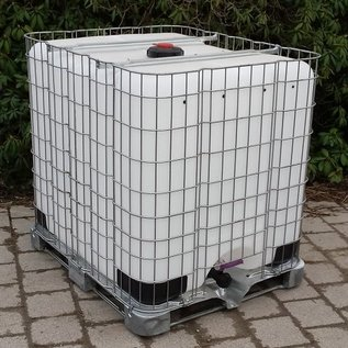 Sotralentz IBC IBC Wassertank 1000 Liter für den Garten mit feinmaschigem Gitter #2EM-sauber-REGEN-USER