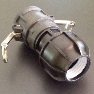 IBC Camlock Adapter für 50mm Rohre KLEMMVERBINDUNG #C1400-REGEN-USER