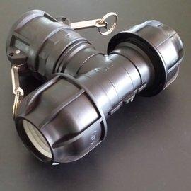 IBC Kamlok Adapter für 50mm Rohre T-Stück