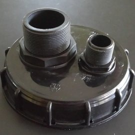IBC Wassertank Deckel mit 2'' AG & 1'' AG