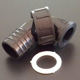 Schlauchanschluss 32 mm mit 90° Bogen und Überwurfmutter mit 1-1/4-Zoll Innengewinde #BU114IGB32-REGEN-USER