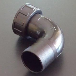 Schlauchanschluss 38 mm mit 90° Bogen und Überwurfmutter mit 1-1/2-Zoll Innengewinde #BU112IGB38-REGEN-USER