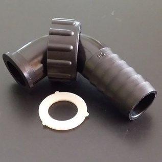 Schlauchanschluss 3/4'', 19-20 mm mit 90° Bogen und Überwurfmutter mit 3/4-Zoll Innengewinde #BU34IGB20-REGEN-USER