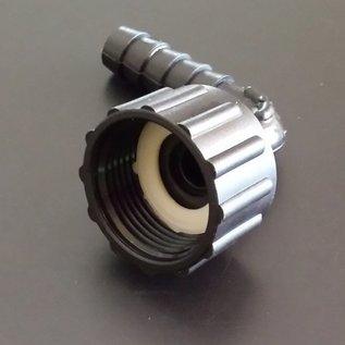 Schlauchanschluss 1/2'', 12 mm mit 90° Bogen und Überwurfmutter mit 3/4-Zoll Innengewinde #BU34IGB12-REGEN-USER