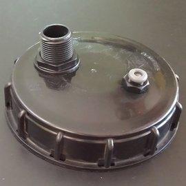 IBC Deckel 150mm mit Entlüftungsventil und 2 x 1'' AG