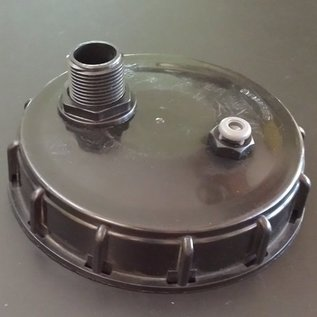 IBC Container-Deckel 150mm mit Be- / Ent- Lüftungsventil und 2 x 1-Zoll Aussengewinde für Regenwassertanks #70&01N-REGEN-USER