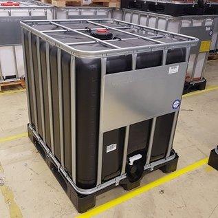 Werit IBC IBC Container 1000 Liter für Gefahrgut mit UV Schutz auf Kunststoff-Palette #64VP-UN-W-NEU-REGEN-USER