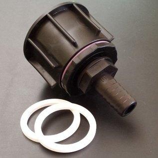 IBC S60X6 2'' Adapter Anschluss mit 15-16 mm Tülle für 5/8-Zoll Schlauch #P16-S-REGEN-USER