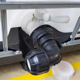IBC Adapter für 50 mm Rohr mit Bogen