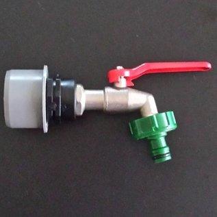 Deckel für HT DN 50 Rohr mit 3/4'' Kugelhahn für Regenwasser-Verbindung mit 50mm HT Rohr #HT50-15G-REGEN-USER