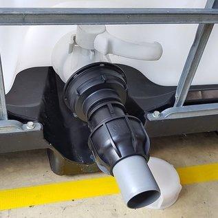 IBC 3-Zoll Adapter für 50 mm Rohre KLEMMVERBINDUNG #Z-HT1400-REGEN-USER