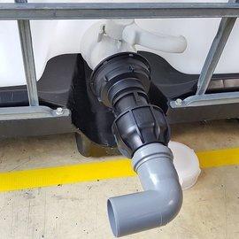 IBC Adapter 3'' für 50 mm HT-Rohr Bogen