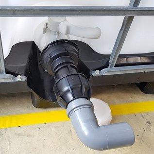 IBC 3-Zoll Adapter für 50 mm Rohr mit Bogen #Z-HT1402-REGEN-USER